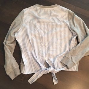 Jcrew sweatshirt with button down back, size S